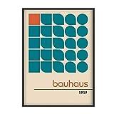 HJZBJZ Bauhaus-Plakat, 100 Jahre Bauhaus, Bauhaus-Ausstellungsdruck, Herbert Bayer-Plakat, Bauhaus-Druck, Walter-20X28 Zoll ohne Rahmen 1 Stck