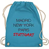 Weltstadt Stuttgart - Unisize - Hellblau - tasche stuttgart - WM110 - Turnbeutel und Stoffbeutel aus Baumwolle