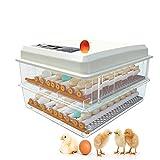 JHKGY Digitaler Vollautomatischer Hatcher,Eier Inkubator,Eingebaute Eierkerze,Geflügel Sänger Mit Automatischer Drehung Der Temperaturregelung,Für Hühner Enten Gans Vögel Wachtel,120 Egg