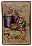 OPEKTA Marmelade, Retro Werbung, hochwertig geprägtes Küchenschild, Blechschild, Türschild, Wandschild, Dekoration 30 x 20 cm