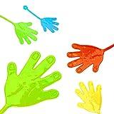 L+H 24x Klatschhand Glibber in Premium Qualität | Bunte Klatschhände | Klebehand Sticky Klatsch Hand Mitgebsel Mitbringsel Give aways Scherzartikel Spielspaß für Geburtstag Kindergeburtstag Kinder