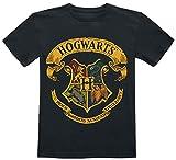 Harry Potter Hogwarts Crest Unisex T-Shirt schwarz 140 100% Baumwolle Fan-Merch, Filme, Nachhaltigkeit