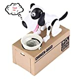 Cestlafit Cute Puppy Hungry Essen Hund Coin Bank, Doggy Coin Bank, Hund Sparschwein, Coin Munching Toy Money Box 0420C(Color:EIN)