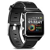 Smartwatch Fitness Armbanduhr Pulsuhren Fitness Uhr mit IP68 wasserdicht Smart Watch GPS Sportuhr 17 Sportmodi Schlafmonitor Schrittzähler Voller Touchscreen Smartwatch für Herren Damen Android iOS
