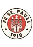 FC St. Pauli Mousepad Logo Mauspad - Plus Aufkleber Fans gegen Rechts