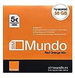 Orange Spain - Prepaid SIM-Karte mit 50 GB in Spanien, 800 Minuten für Anrufe nach Deutschland und 5€ Kredit, Aktivierung nur online unter www.marcopolomobile.com