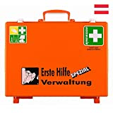 Söhngen Erste-Hilfe-Koffer Verwaltung, Wandhalterung, orange, ÖNORM Z 1020 Typ 1, mit Prüfplakette