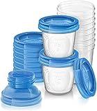Philips AVENT SCF618/10 Aufbewahrungssystem für Muttermilch, Becher inklusive Deckel, Adapter