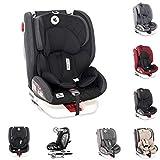 Lorelli Kindersitz Roto Isofix Top Tether SPS Gruppe 0/1/2/3 (0-36kg) 0-12 Jahre, Farbe:schwarz grau