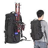 Creamon Zylindrischer Angelrucksack, Zylindrischer Angelrucksack Rucksack aus Polyester mit großer Kapazität und Angelrutenhalter