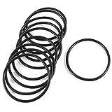 X-Baofu, 10 Stück 65mm Außendurchmesser Schwarze Gummi-O-Ring O-Ring Dichtung abgedichtet Unterlegscheiben (Größe : 65mm)