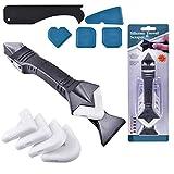 5-in-1-Reinigungsset Silikonglaswerkzeug, DichtungsentfernerWerkzeugsatz, Haushaltswerkzeuge Home Spatelkleber Schaufelschaber Abdichten Schimmel entfernen Nützliches Werkzeug