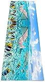 Faltbare Yogamatte Rutschfest,Bunte Fische Umweltfreundliche Fitness-Trainingsmatte Für Training & Zuhause,Gymnastikmatte,Bodenübungen & Pilate-Fitnessmatte Für Frauen 183×61cm