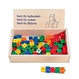 Educo Verti-fix snap cubes Lehrmaterialien Technologie & Technik Mathematik - Geometrie - Räumliche Orientierung Ab 48 Monate Bis 96 Monate, Farbskala
