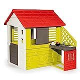 Smoby – Natur Haus - Spielhaus für Kinder für drinnen und draußen, mit Küche und Küchenspielzeug, Gartenhaus für Jungen und Mädchen ab 2 Jahren