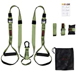CCLIFE Schlingentrainer für Krafttraining Set mit Türanker Resistance Suspension Straps Einstellbar Fitnessgurte Zuhause Suspension Widerstandstrainer Trainingsgurte
