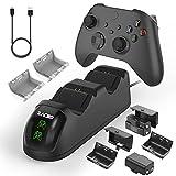 Zacro Controller Ladestation für Xbox One, mit 2x1000mAh Wiederaufladbare Controller Akku, Ladegerät mit LED-Anzeige Kompatibel mit Xbox One/Xbox One Elite/Xbox Series X/Xbox Series S