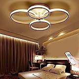Modern LED Deckenleuchte Deko Wohnzimmerlampe Dimmbar Mit Fernbedienung Deckenlampe Ring Designer Pendelleuchte Küche Esszimmer Esstisch Schlafzimmer Kronleuchter Decken Acryl Lampe Bad Flurlampe