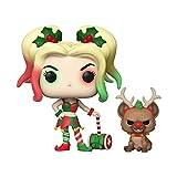 Funko 50656 POP&Buddy Holiday DC Comics Holidays S1 Harley Quinn w/Helper Sammelbares Spielzeug, Mehrfarben