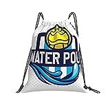 Yoohome Water Polo Turnbeutel Sportbeutel Kordelzug Rucksack Tasche Damen Herren Sackpack Gymbag Drawstring Backpack Kordelzugbeutel Gymnastikbeutel Trainingsbeutel
