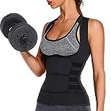 CRMY Aufwärmen 2-in-1-Brustheber & Taillenformer, Schweißkörper-Shaper-Weste, Taillentrainer-Rückenstütze Cincher Trimmer Verstellbares Court-Schweißkorsett für Fitness-Training (Size : XL)