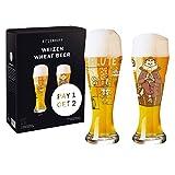 RITZENHOFF 6071002 Weizenbierglas-Set, Glas, 645 milliliters