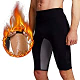 Martiount Männer Schweiß Sauna Shorts Body Shaper Gewichtsverlust Hosen Workout Abnehmen Hot Yoga Capri Oberschenkel Bauch Fatburner Taille Trainer (XL-)