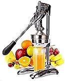 HXIYANG Manueller Entsafter,Handentsafter Edelstahl - mechanischer Entsafter – Orangenpresse Zitruspresse manuell mit Hebel – für Orangen Pampelmusen Zitrusfrüchte - massive Bauweise