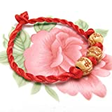 YLWL Y05 Lucky Fashion Handmade Armreif Damen Mädchen Bunte Zopfkette Armband rot Gelb Amulett