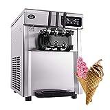 Kommerzielle Softeismaschine 3 Aromen Eismaschine 2300W 22L / h Professionelle Edelstahl Joghurt jinyang