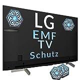 HEALANCY BIOMEDICAL - EMF Schutz Neutralisierer für FERNSEHER - Speziell für entwickelt für Smart Fernseher LED und OLED bis 70 Zoll, 5G optimiert, Elektrosmog, Elektro-Allergie, Abschirmung