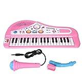 E-Piano, Digital Piano, Pink Piano Klarer Klang E-Piano Langlebiges E-Keyboard Piano für Kinder Teenager Kinder Verbessern Sie die zwischenmenschlichen Fähigkeiten(powder)