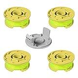 Frunimall Trimmerspule für Rasentrimmer, 5 Stück, Ersatzteil für Ryobi AC80RL3 18 V 24 V 40 V, 4 Stück