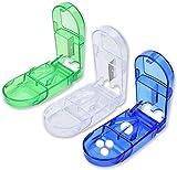 Pillenteiler-Pillenschneider - Tragbare Pillenaufbewahrungsbox - Zwei-in-Eins-Aufbewahrungs- und Trage-Medizinschneider