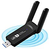 WLAN Adapter - WiFi Stick 1200Mbps Dual Band 2.4GHz / 5GHz Wireless USB Adapter Empfänger 802.11ac/n/g/b Netzwerk Dongles, für Desktop PC Laptop, für Windows XP/7/8.1/10/ Vista