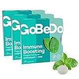GoBeDo Immune Boosting Gum Mint — Zuckerfreie Xylitol-Kaugummis — Abwehrkräfte stärkend, Vegan und aspartamfrei — 3 x 9er Pack Minz-Kaugummis