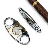 LLLKKK Addison Zigarrenschneider, Zigarrencutter, Zigarrenbohrer, Doppelte Klinge Zigarrenschere, Edelstahl Cutter für die meisten Größe Von Zigarren, Zigarren-Zubehör