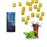 600 Stück Menthol Hülsen,Aroma Kapsel e Zigarette,Aroma e Zigarette Click Zigaretten Gemischte Perlen Und 1 Push-Burst-Perlen Menthol