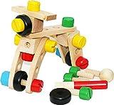 Toys of Wood Oxford 30-teiliger Baukasten aus Holz - Werkzeug zum selber Schrauben inkl. Kordelzugbeutel