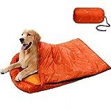 KUDES Hunde-Schlafsack, wasserdicht, warm, verstaubar, mit Aufbewahrungstasche, für drinnen und draußen, Reisen, Camping, Wandern, Rucksackreisen (109 cm L x 68 cm) B)