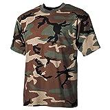 MFH 00103T US Army Herren Tarn T-Shirt (Woodland/XL)