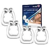 UPGRADED Schnarchstopper Premium Nasenclip [4er Set], Neuartige Nasenklammer gegen Schnarchen für möglich bessere Atmung | Für ruhige und entspannte Nächte |Sofortige Anti Schnarch Hilfe