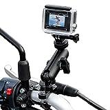 TKOOFN GoPro Kamera Fahrradhalterung Motorradhalterung, 360 Grad Drehbar Einstellbar Universal Metall Lenkerhalter Halterung für GoPro Hero 7/6/5/4/3+/3/2 Session, Canon Nikon Sony Aktionskamera