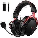 Mpow Air 2.4G Wireless-Gaming-Headset, Over-Ear-Gaming-Kopfhörer für PS4 / PC/ Mac/ Switch, 3D-Sounds, Headset mit Zweikammer-Treiber, 17+ Stündige Wireless-Nutzung, Mikrofon mit Geräuschunterdrückung