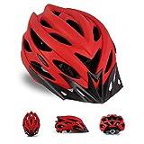 HUSHUI Fahrradhelm für Männer Frauen, Outdoor Fahrradhelm mit Abnehmbarer Sonnenblende und verstellbarem Rücklicht Fahrradhelm Sport Rennradhelm