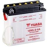 Batterie YUASA 12N5.5-4A (DC) offen ohne Säure, 12V|5,5Ah|CCA:55A (135x60x130mm) für Yamaha WR125 R Baujahr 2015