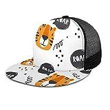 Nicokee Maulkorb der Tigers Mesh Hut Baseball Cap Tier Cartoon Katze Comic Brüllkopf Orange Wild Zoo Flat Snapback Hüte Verstellbare Track Hat für Männer Frauen