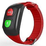 Nlight GPS Smart Watch Wasserdichter GPS-Locator Smartwatch-Armband Echtzeit-Tracker GPS Mit Voice-Chat SOS-Wecker Schrittzähler Armband Geschenk Für Ältere Menschen EL,B