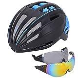 OUYA Spezialisierter Fahrradhelm Mit 2 Gläsern, Doppelschichthelm Für Damen Und Herren, Mountainbike-Helme Für Multisportarten,C