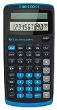 Texas Instruments TI 30 ECO RS Taschenrechner (10-stellige Display, solarbetrieben, Blauer Engel) hellblau-schwarz